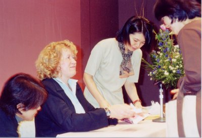 Torey at a book signing in Japan